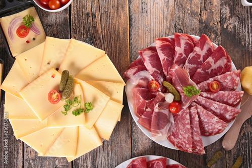 Papiers peints Pays d Afrique raclette cheese and salami