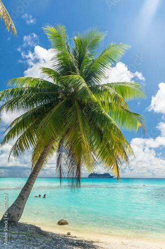 Staande foto Oceanië Paradise view of Rangiroa atoll, French Polynesia