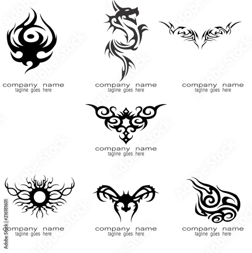Fotografia black tribal tattoo