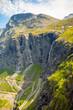 Trollstigen famous serpentine road mountain road in the Norwegian mountains, Norway