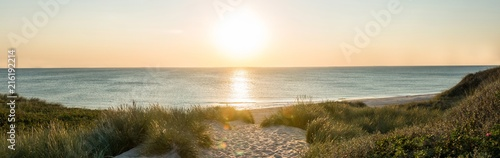 Wall Murals North Sea Sonnenuntergang am Strand auf Sylt