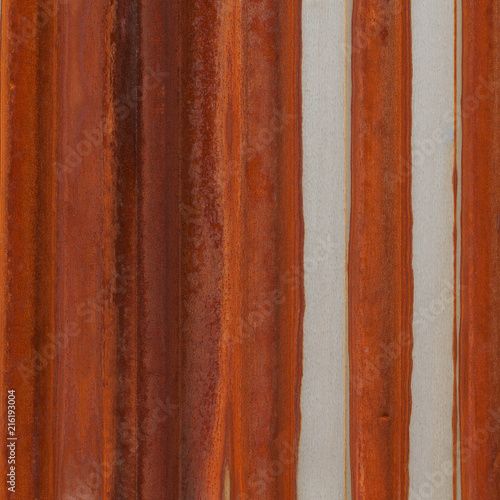 Láminas  metallic relief surface with rusty and gray stripes