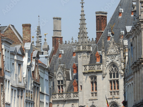 Foto op Canvas Brugge architecture bruges belgique