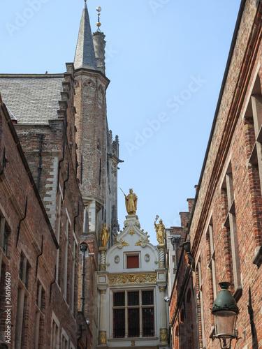Deurstickers Brugge architecture bruges belgique