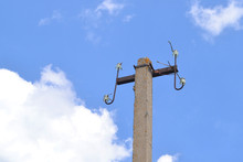 Electric Pole Without Wires.
