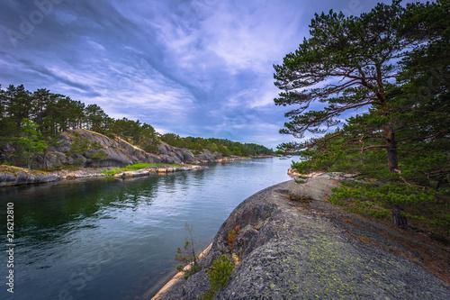 In de dag Noord Europa Coast of a small island during Midsummer in the Swedish Archipelago, Sweden
