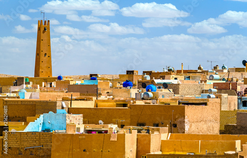 Wall Murals Algeria El Atteuf, an old town in the M'Zab Valley in Algeria