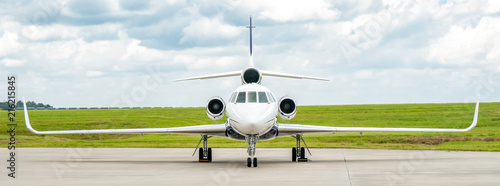 Dassault Falcon 50 Business Jet Panorama Canvas-taulu