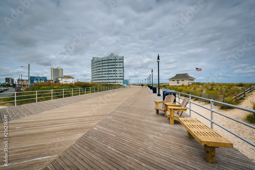Fotobehang Amerikaanse Plekken The boardwalk in Atlantic City, New Jersey