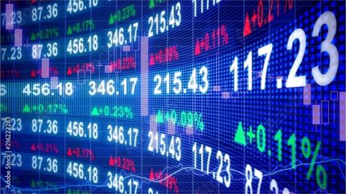 Technological stock exchange chart Fototapet