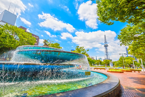 Foto op Plexiglas Stad gebouw 名古屋の風景