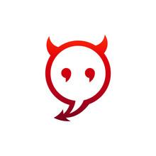 Devil Chatting Logo Template