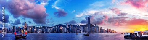 Photo Stands Ship Hong Kong Harbor View