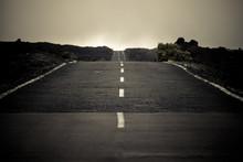 Long Way Infinite Asphalt Road...