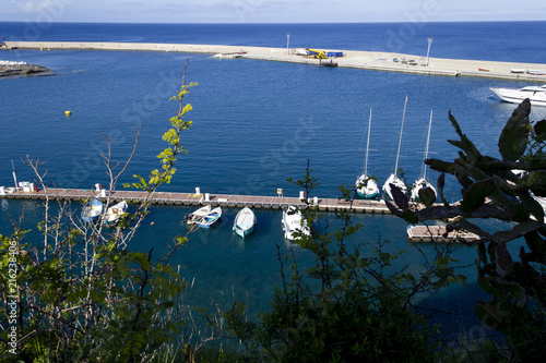 In de dag Poort modern harbour of ventotene island and santo stefano italy