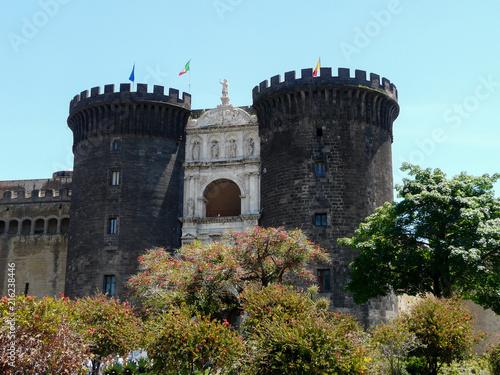 naples italy view of castel nuovo maschio angioino