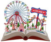 Fun Park In Pop Up Book