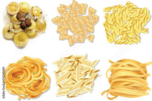 Fotografia A set of Italian pasta