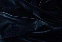Top View Of Black Velvet Texti...