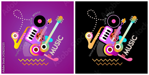 Poster Art abstrait Music Festival Poster Designs