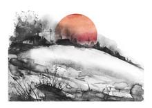 Countryside Landscape. Illustr...