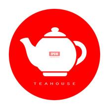 Tea Pot Round Vector Icon