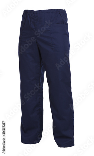 Fotografie, Obraz Protective working trousers isolated on white background