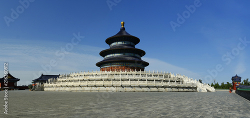 Fotobehang Bedehuis The temple of heaven in Beijing, China dedicated to the wishes of good harvest