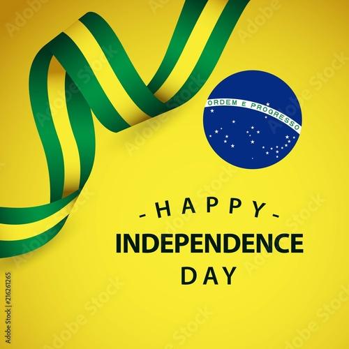 Happy Brazil Independent Day Vector Template Design Illustration Fototapete