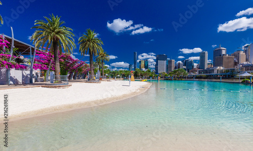 Streets Beach in South Bank Parkland, Brisbane, Australia