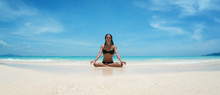 Yoga Woman Meditating At Seren...