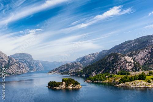 Keuken foto achterwand Scandinavië Beautiful Norway landscape