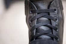 Close Up Baskets En Cuir Noir
