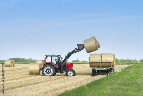 Fotografia Harvesting of agricultural machinery