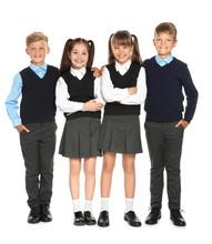 Little Children In Stylish Sch...