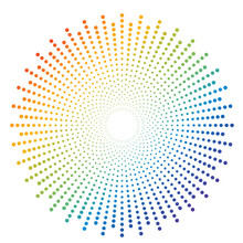 Abstract Colorful Rainbow Dot ...