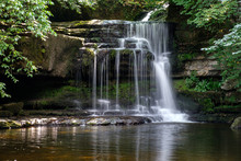 View Of Cauldron Force At West Burton In The Yorkshire Dales National Park