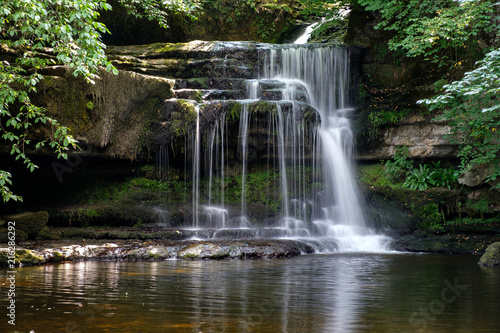 Foto auf Leinwand Wasserfalle View of Cauldron Force at West Burton in The Yorkshire Dales National Park