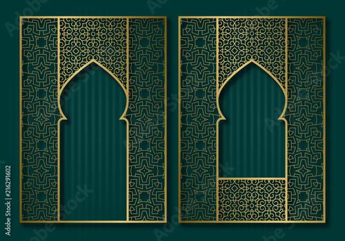 Fotografie, Obraz  Vintage frames in form of oriental door and window
