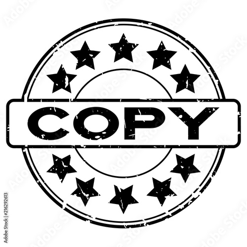 Photo Stands Fantasy Landscape Grunge black copy word with star icon round rubber seal stamp on white background