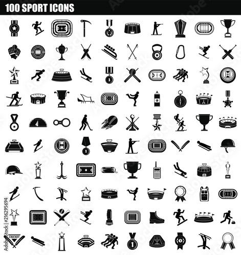 Fotografia  100 sport icon set