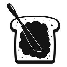 Butter On Bread Icon. Simple I...