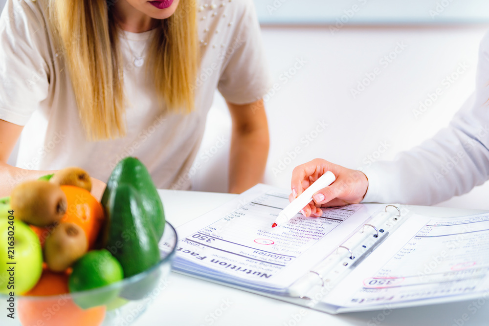 Fototapety, obrazy: Nutritionist with female patient