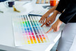 color swatch chart wioth designer hand pick for home design renovation