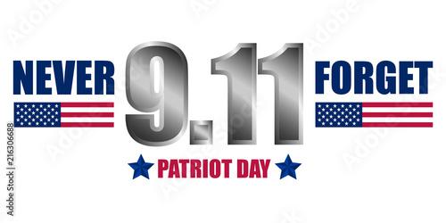 Fotografia  Never forget patriot day concept background
