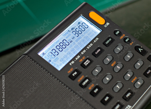 Fotografie, Obraz  Dial de receptor de radio