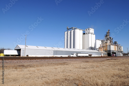 Staande foto Industrial geb. Grain facility