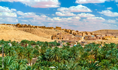 Spoed Foto op Canvas Marokko Ksar Bounoura, an old town in the M'Zab Valley in Algeria