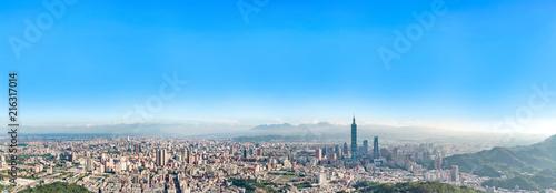 Fototapeta premium Skyline miasta Taipei w centrum Tajpej, Tajwan.