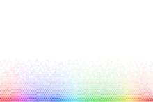 Abstract Rainbow Hexagon Mosai...